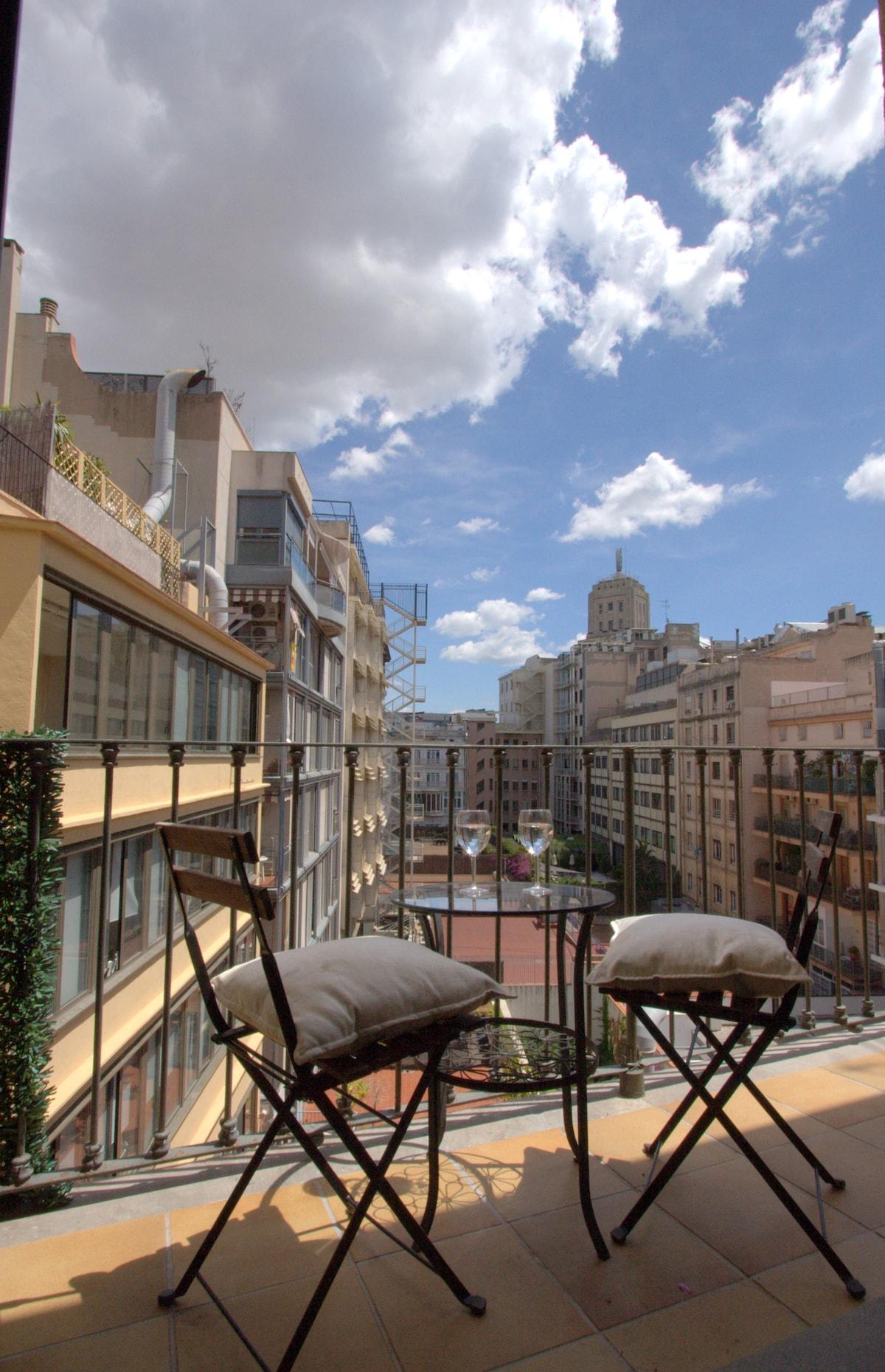 balcony with amazing city view