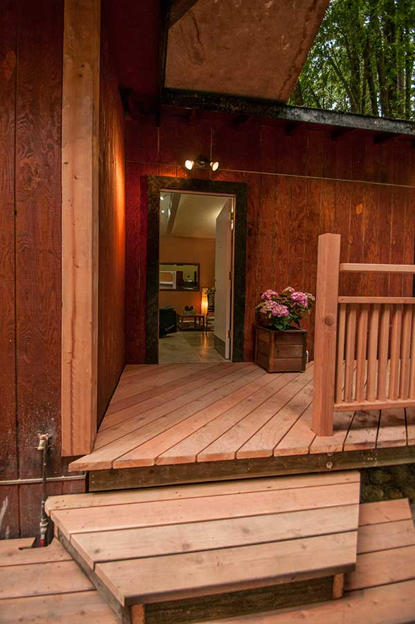 Get ready to relax on the wrap around deck or walk into your weekend retreat.