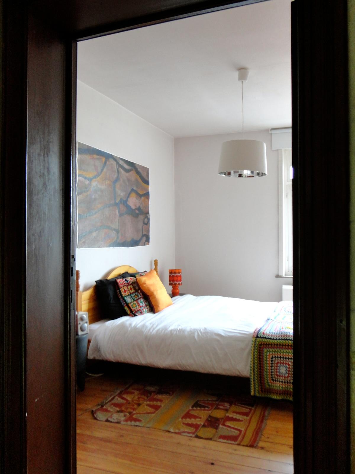 double bedroom second floor - peek through the door
