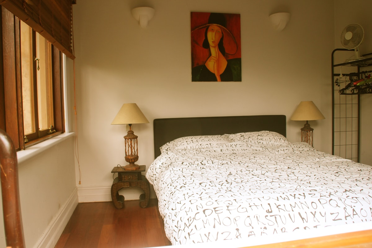 Bedroom with new  Queen size bed
