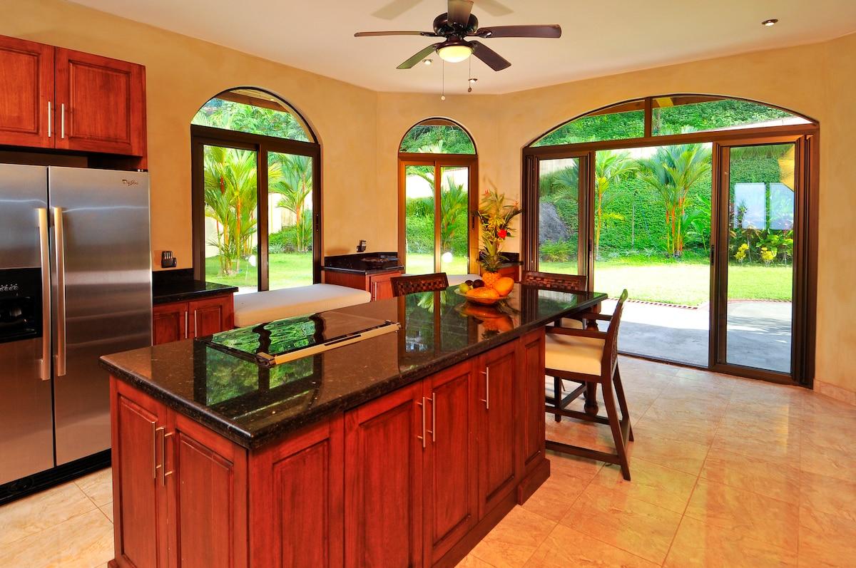 Kitchen and Garden View