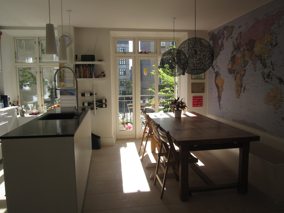 Nice flat in cosy Frederiksberg!