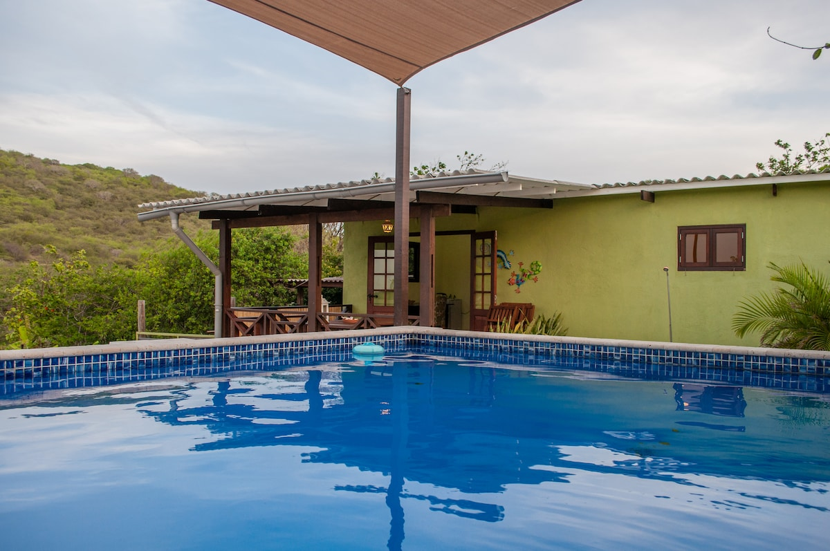 Small, private pool with jetstream!