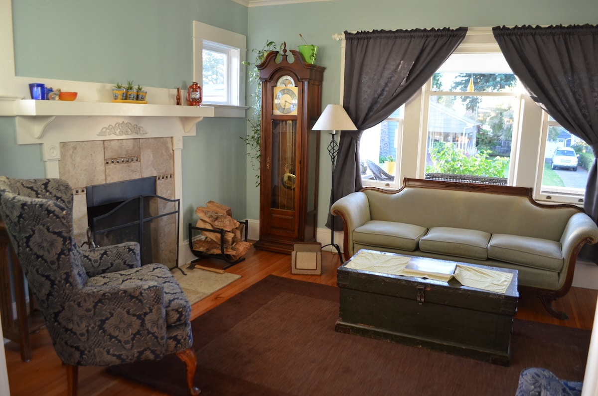 Enjoy a wood fire in our living room or just sit and relax!