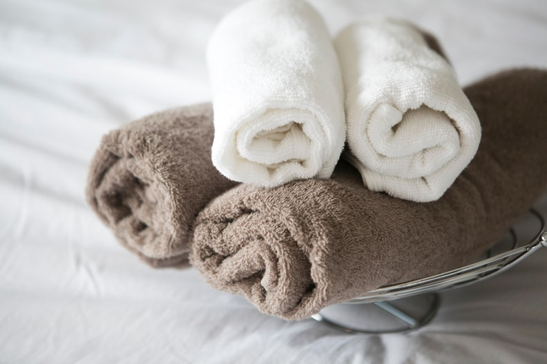 When you check-in, you will be greeted with 2 sets of bath and face towels. Little details that we hope will make you feel at home at our lovely apartment :)