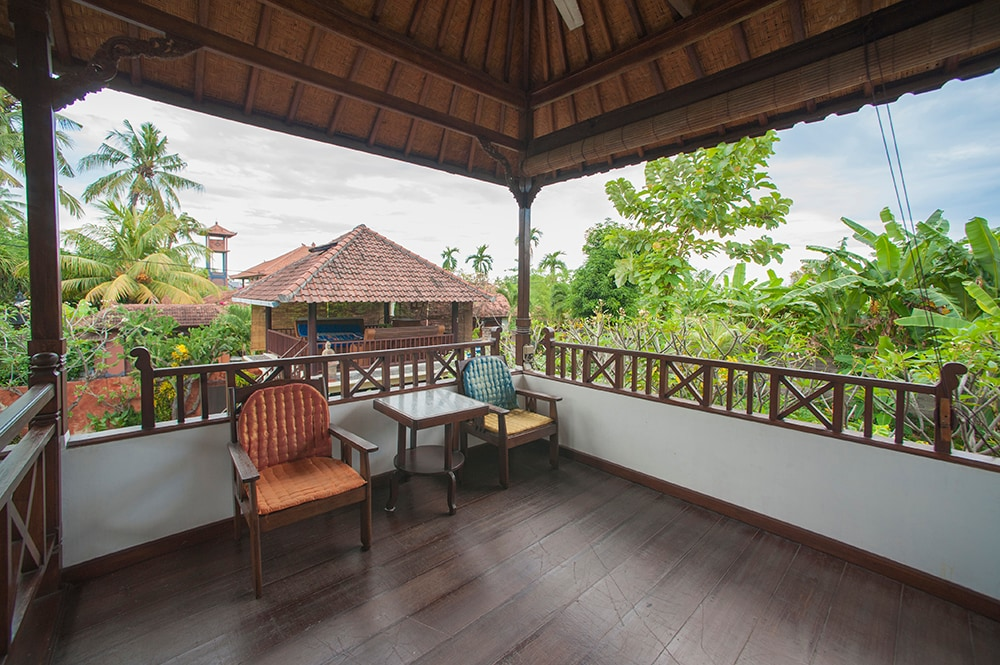 Catch a cool breeze at the terrace upstairs