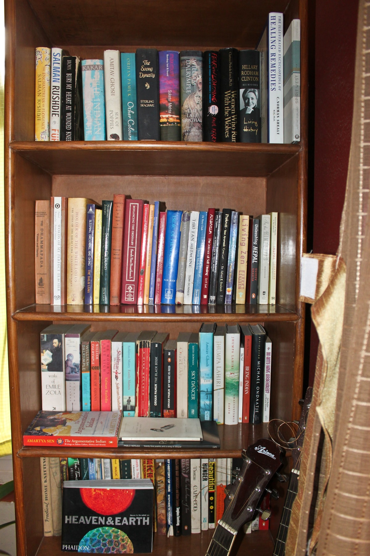 A mini library but some great reads-just return them to its designated shelf after use!