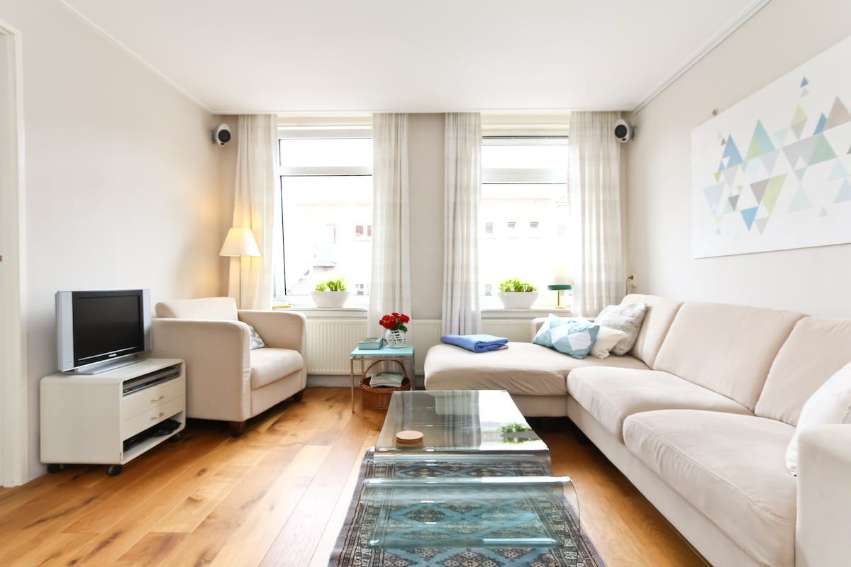 Our living room is a perfect place to come to rest after a busy day exploring the marvels of Amsterdam