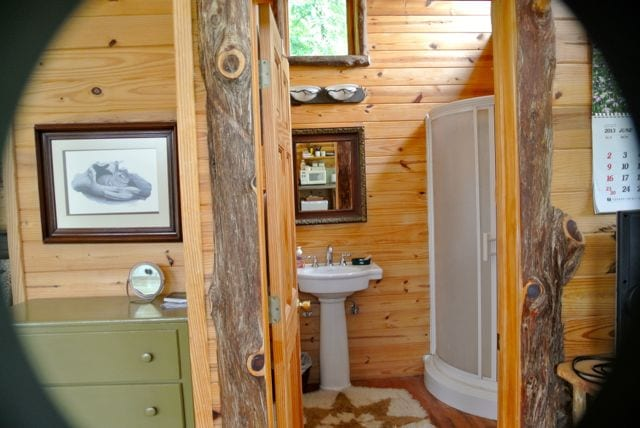 Bathroom with sink, shower and toilet