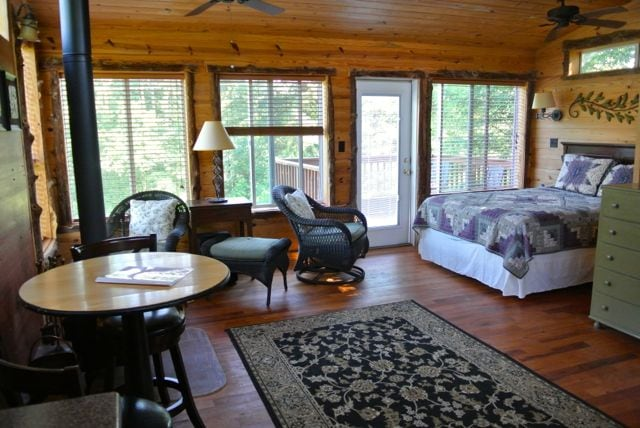 outhern windows for wonderful sunlight & view over pasture and woods