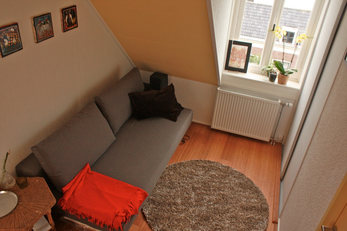 room with sofa bed - transforms into a very comfortable double bed