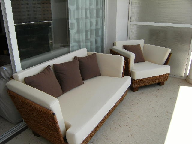 soleada y amplia terraza