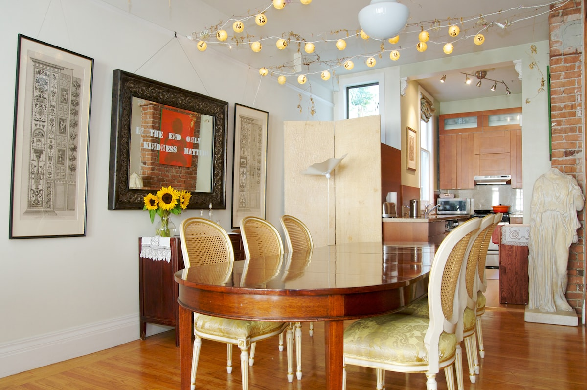 Dining area designed for mindful eating, enjoyment and entertaining!!