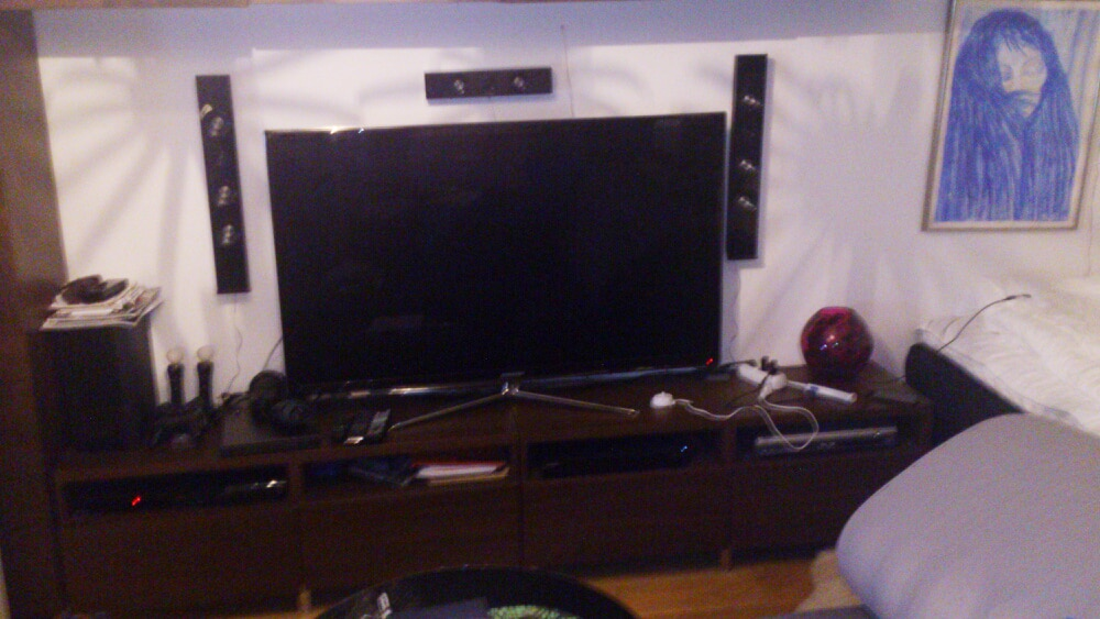 55 inch TV with DVD and Bluray