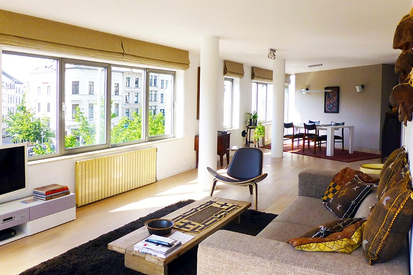 General view of the apartement@trendy south center of Antwerp