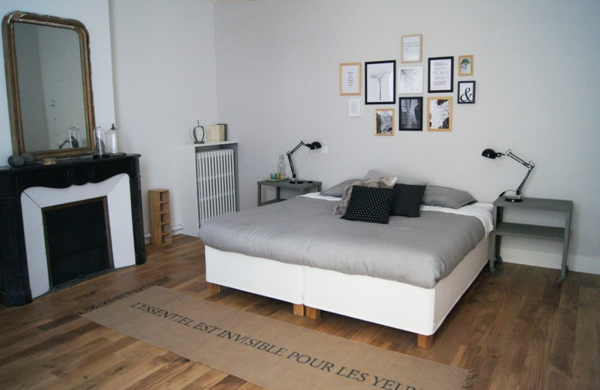 Grande chambre de 20 m2 avec sa salle de bain attenante