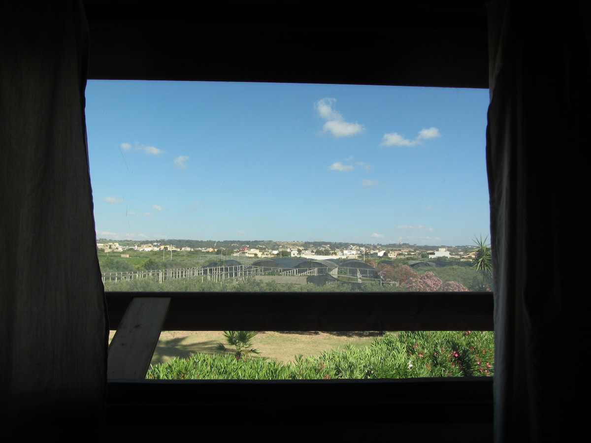 Sicilian landscape from your bedroom