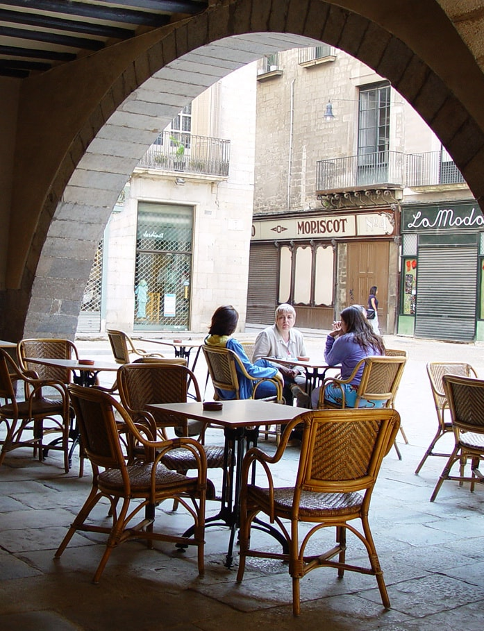 Detalle del Barrio Viejo de Girona
