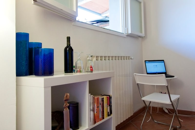 A place to work with your laptop...write your postcards...or draw, if you like!