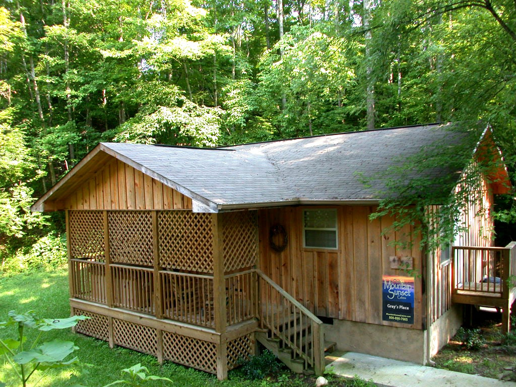 1BR, 1Ba Cabin wooded area near Pigeon Forge (gp)