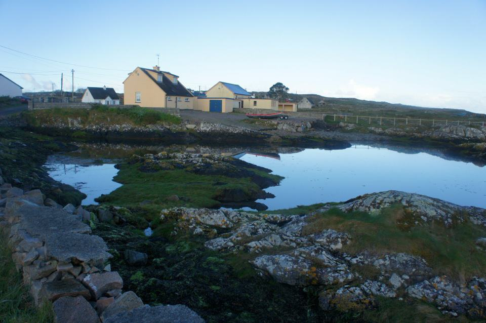 House and Boat Ramp in Connemara