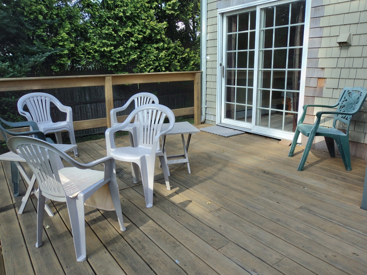 Private Deck with Gas Grill