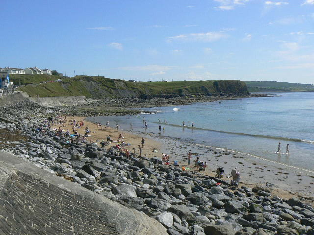 Lahinch beach great for surfing  surf lessons and rental available from The Green Room Surf School