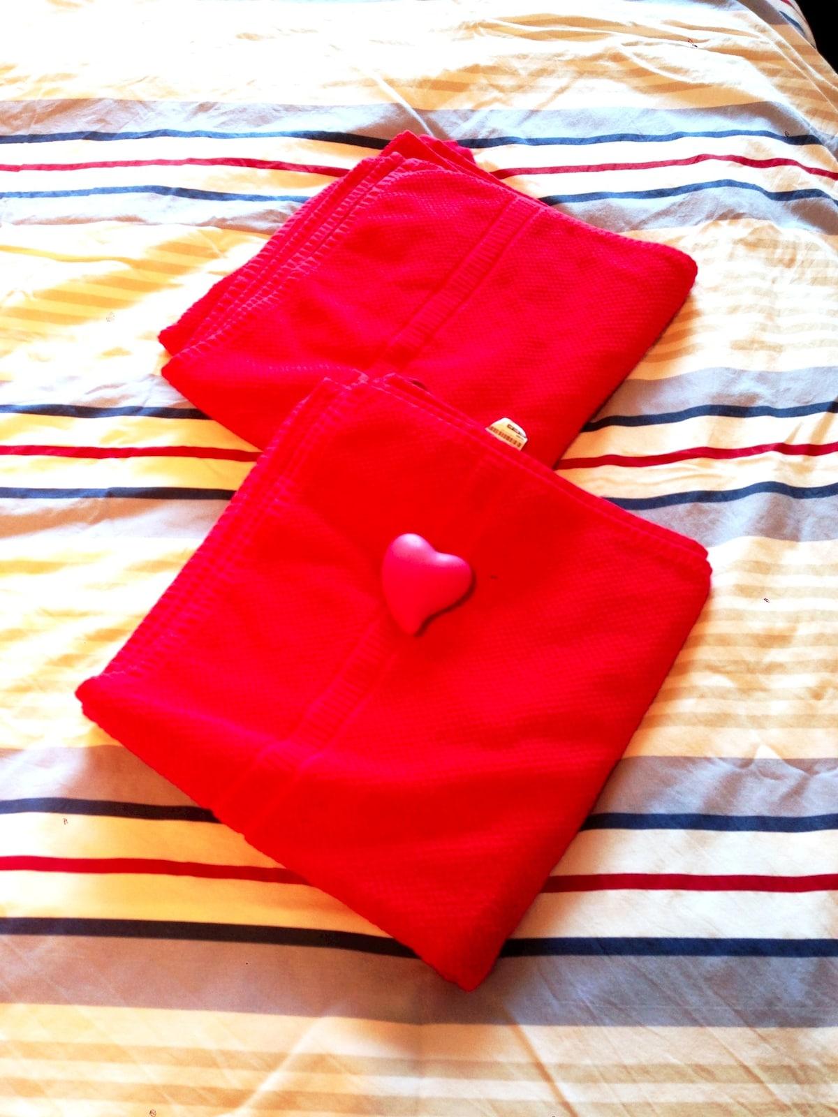 Big and soft towels!