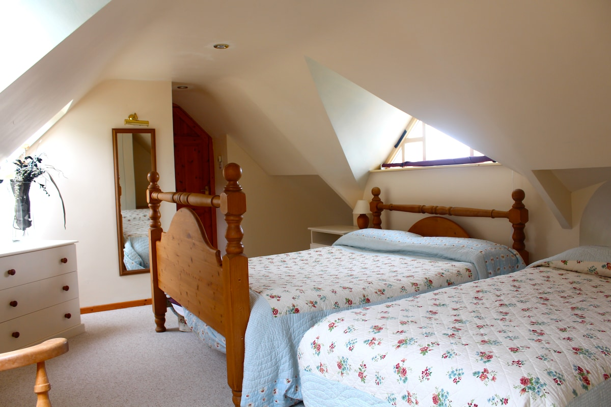 Ensuite bedroom situated upstairs