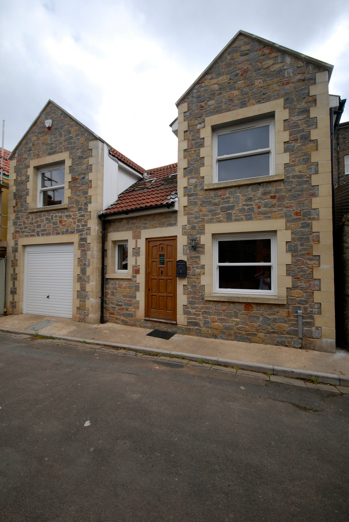 The front of the house, which can be found on a secluded lane in colourful Totterdown, Bristol