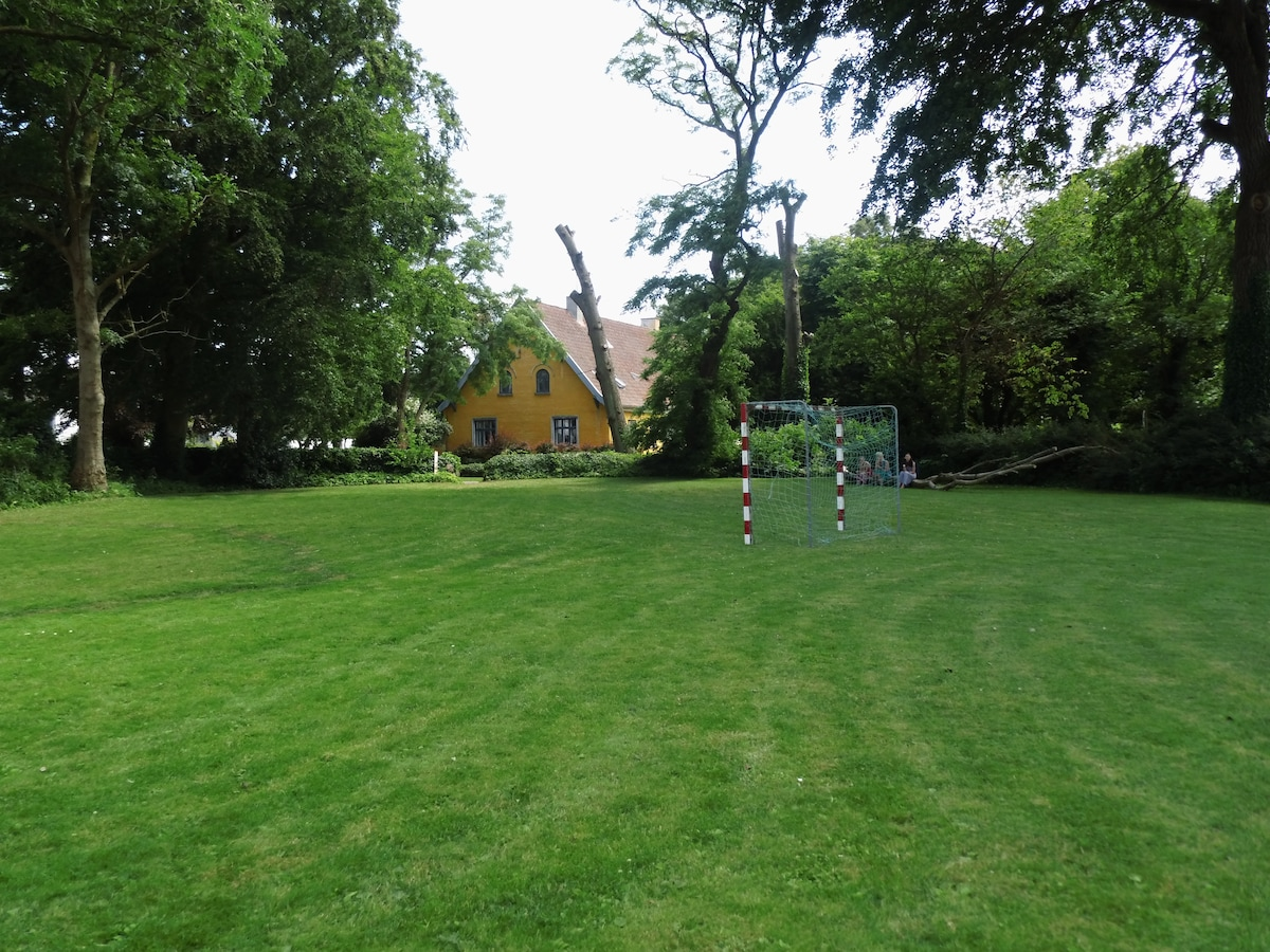 The village common next to the house.