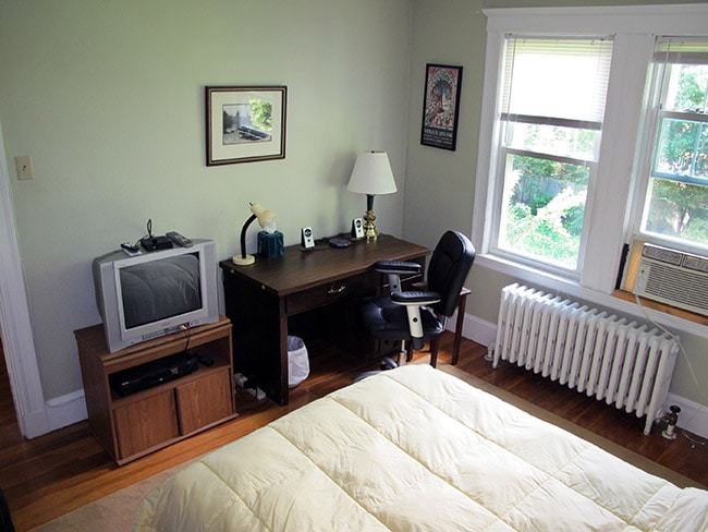 Your room has a comfortable desk to (email hidden), and two windows that look out onto the back yard.