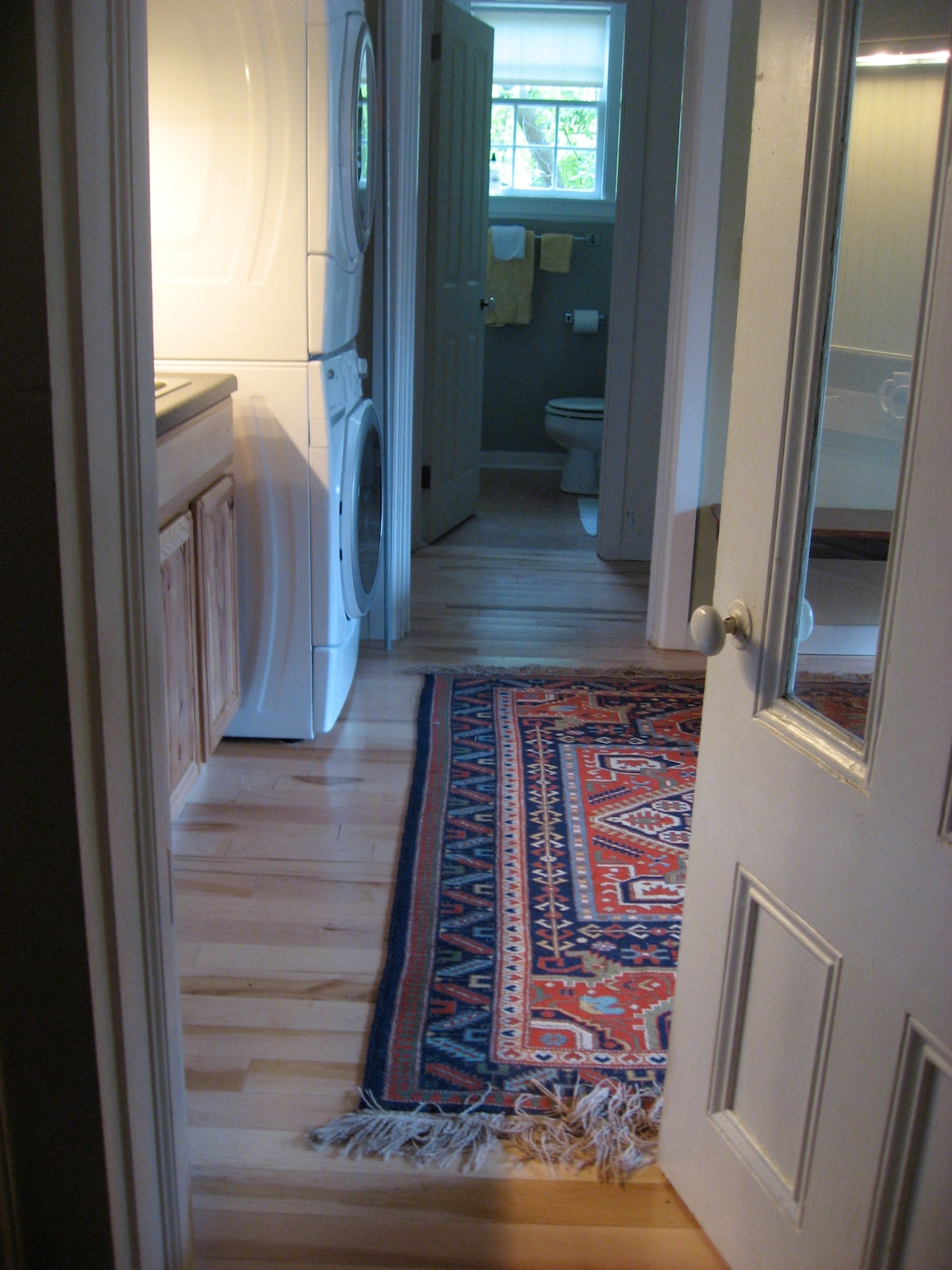 View from the mudroom into the guest quarters