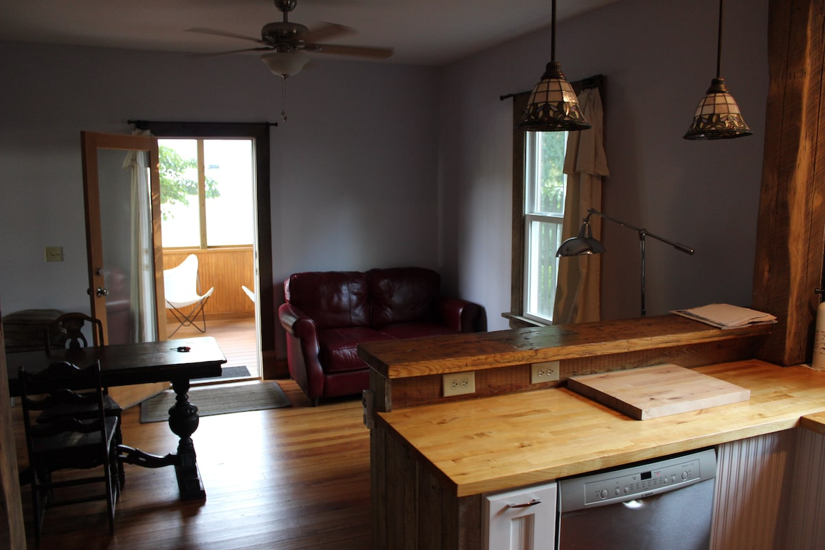 Living/Dining room off the porch and with space to stretch out.