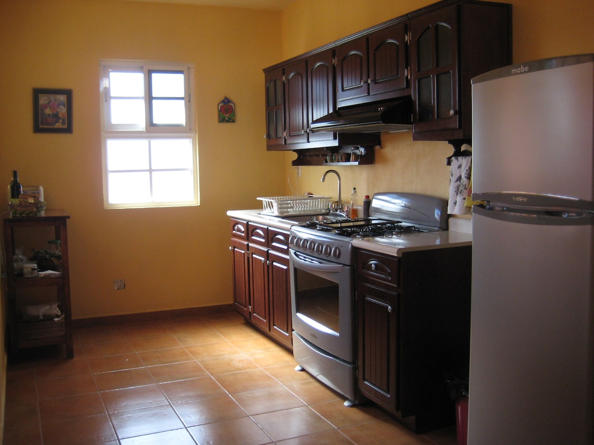 The kitchen - fully equipped for all your cooking needs.