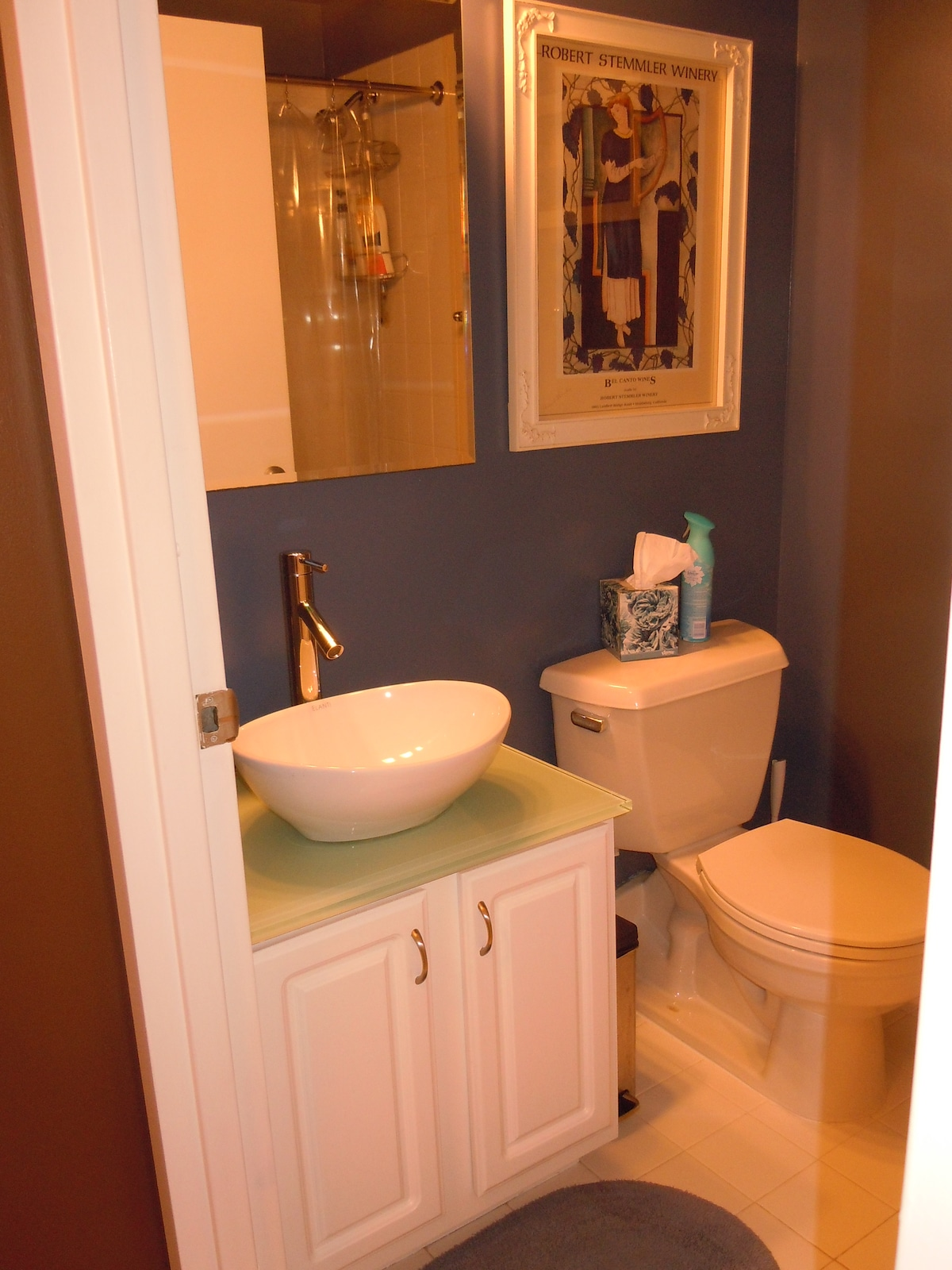 This is your private bathroom.