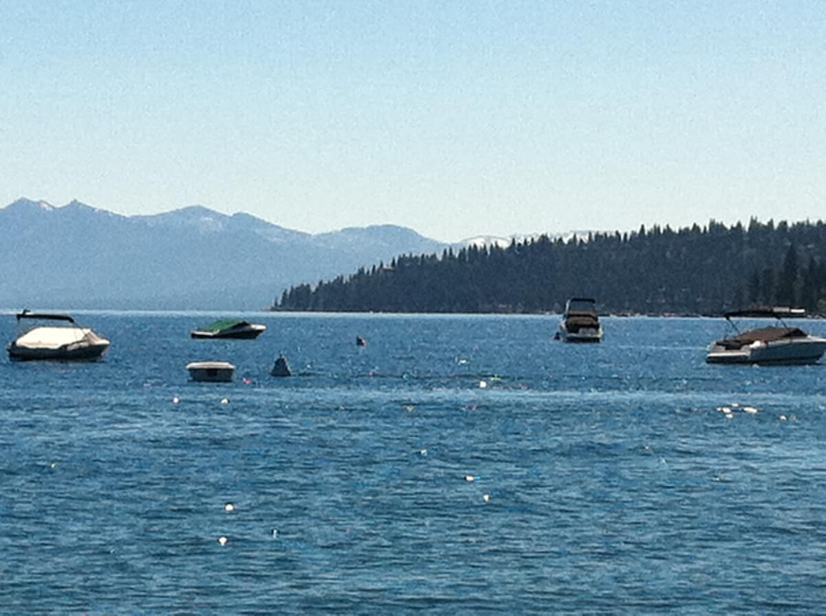 Lake Tahoe from Beach, one block and a half from house.