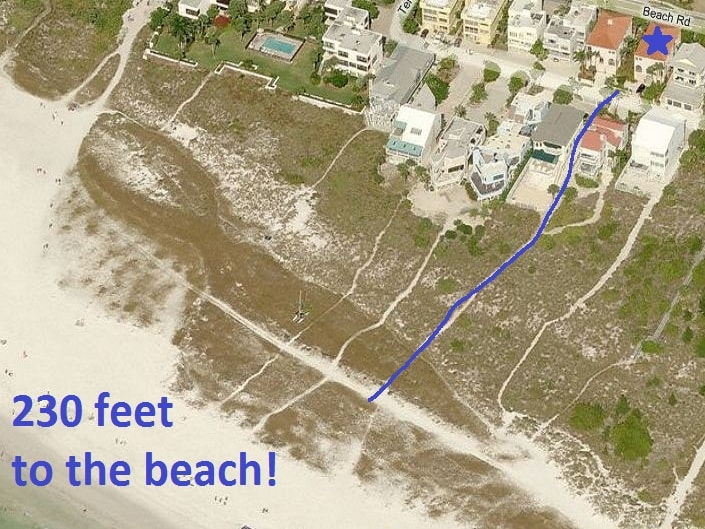 Walk out the door and down our private access path to Siesta Key Beach.