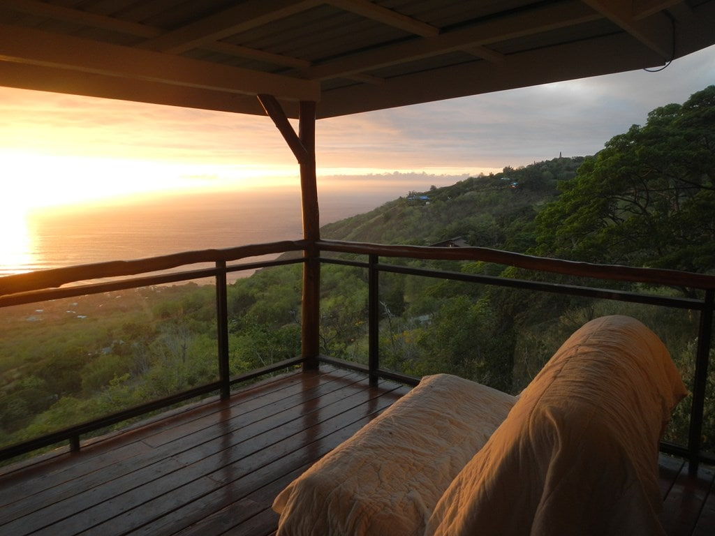 watch amazing sunsets from the lanai.