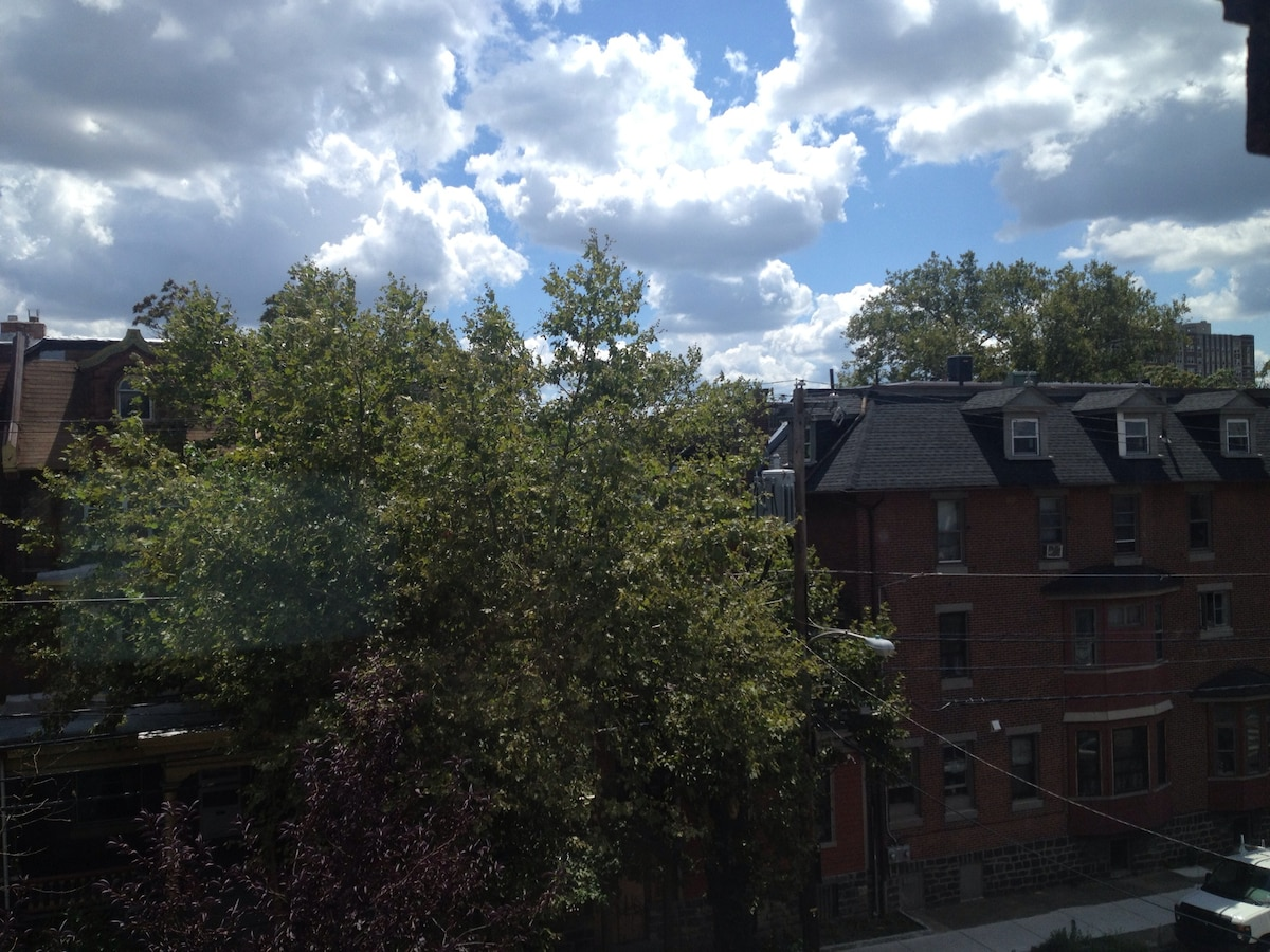Beautiful views of Locust street from your window
