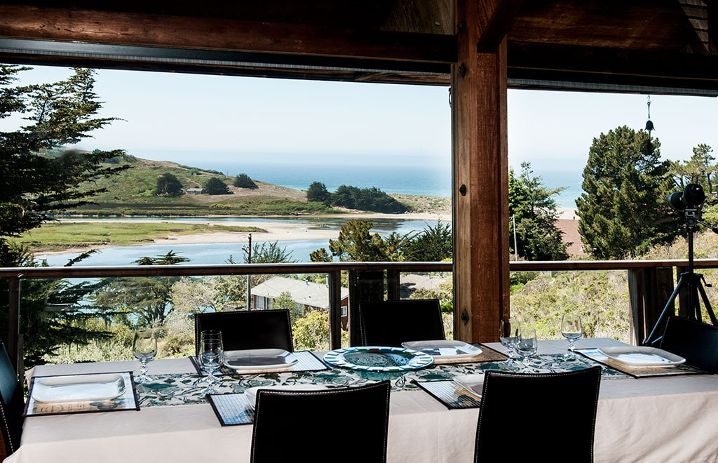 Main Bldg. Dining for up to 6 with River and Ocean Views