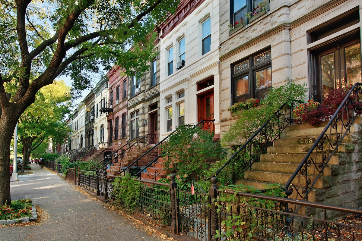 Park slope - this is not my block, but much of the neighborhood looks like this.