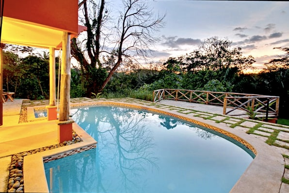 Step right into the large Salt Water Pool.