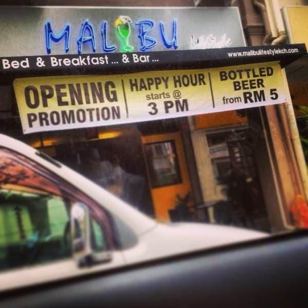 Malibu Lifestyle Kuching B&B...&Bar