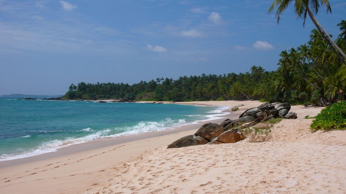 The beach down the property (3 min. walk)