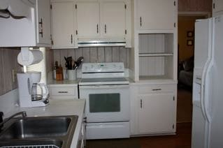 Stove, microwave, and dishwasher