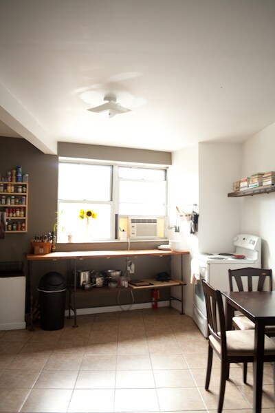 Sunny kitchen/dining room.