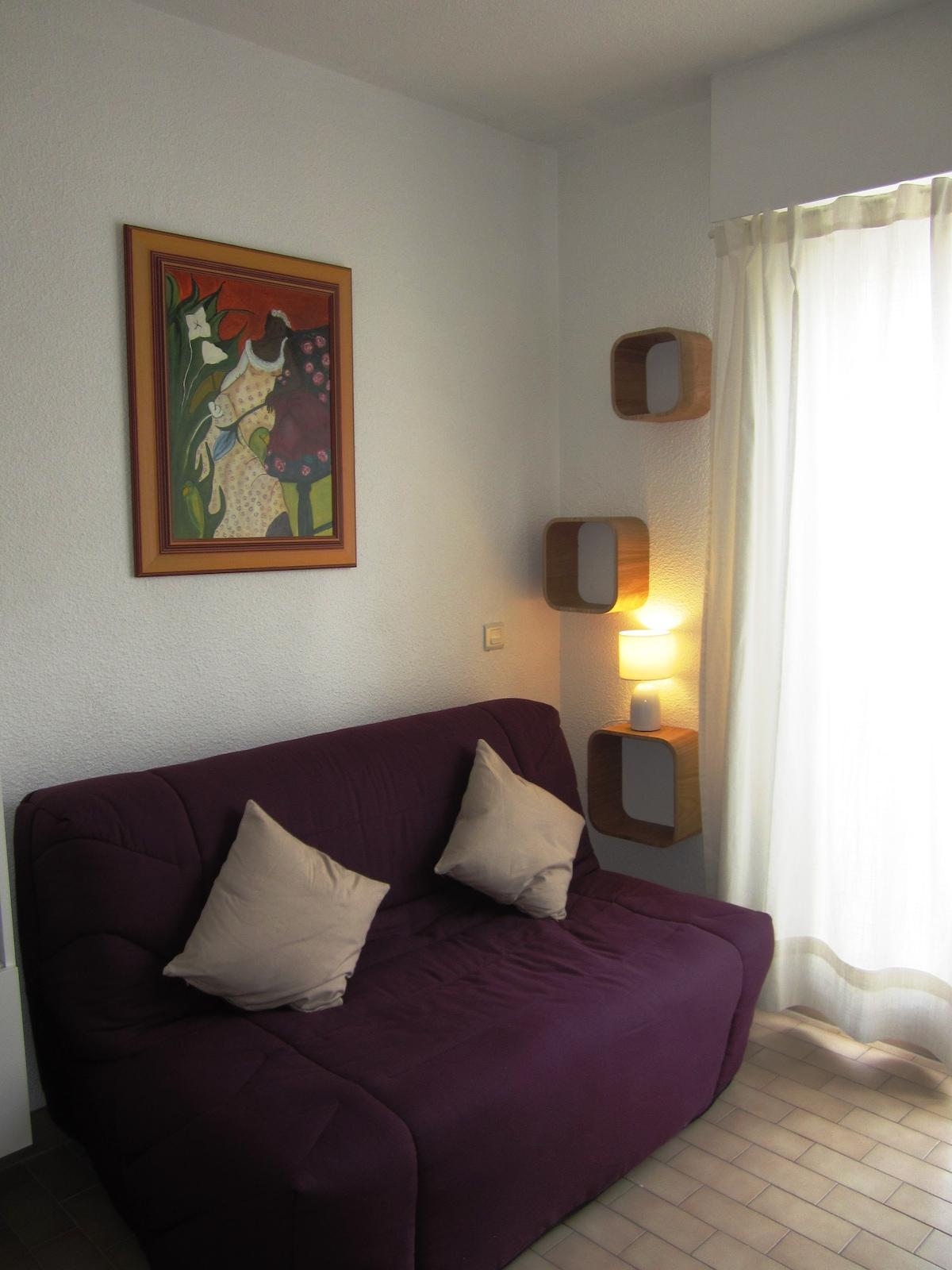 Cosy studio apartment for spa-lover