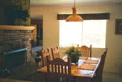 Dining room with sunlight