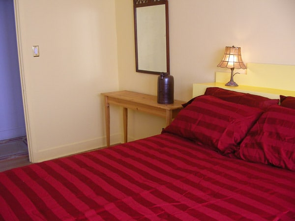 Queen Bedroom with closet - priced this listing - single: $60/night - two people: $65/night.